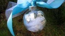 K & A wedding ornament - close up