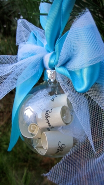 K & A wedding ornament