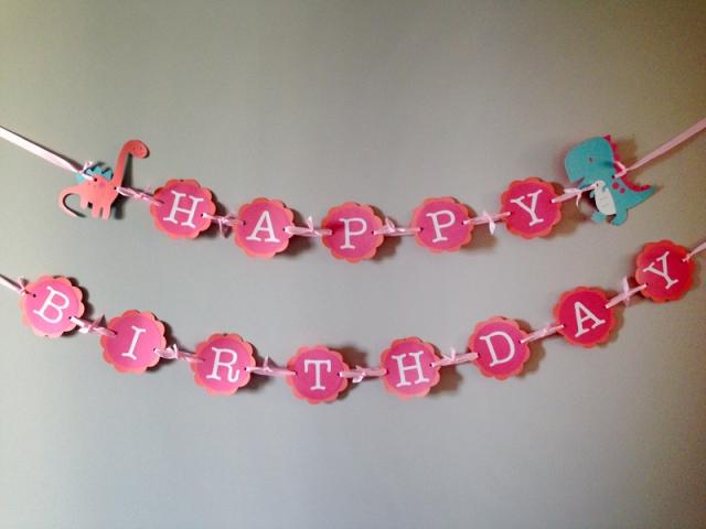 Dino Birthday Banner