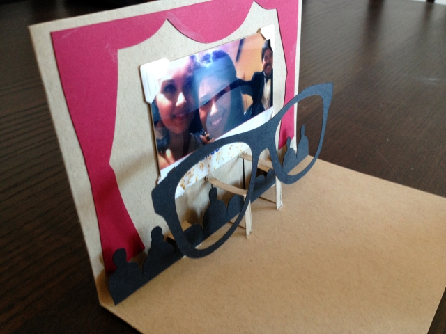 Popup Movie Card - side view