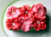 Flower cake - top