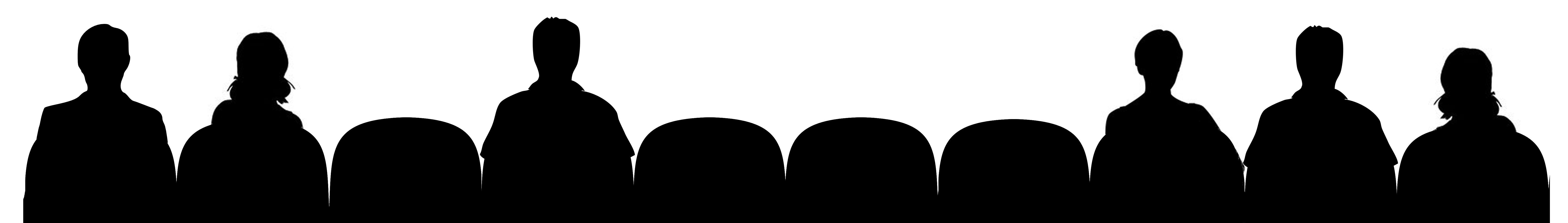 Moviegoers silhouette | Becoming Crafty