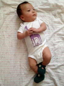 Booties at 2 months