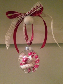 L& K wedding ornament