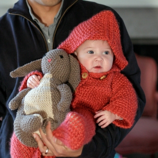 Velveteen rabbit for baby