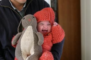 Velveteen rabbit for baby